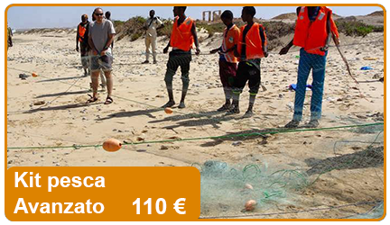Kit di pesca avanzato, include boe, cime, palamiti, lenze e contribuisce all'acquisto di reti da pesca.